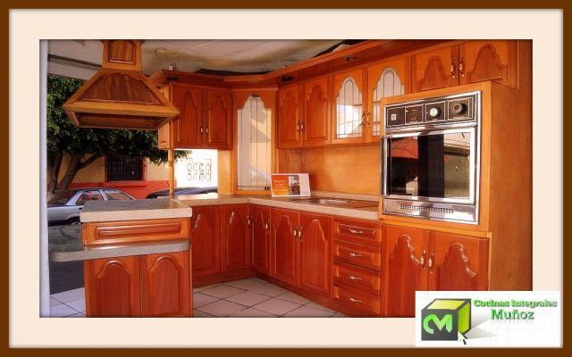 Cocinas integrales mu oz en cali for Madera para cocinas integrales